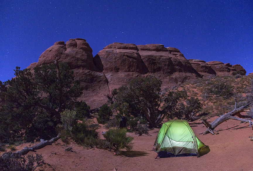 This is where I camped the first night.