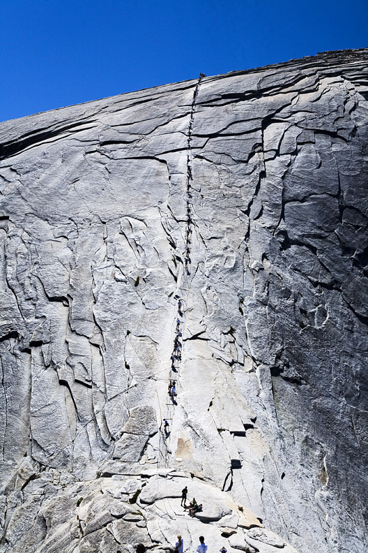 LINE TO HALF DOME