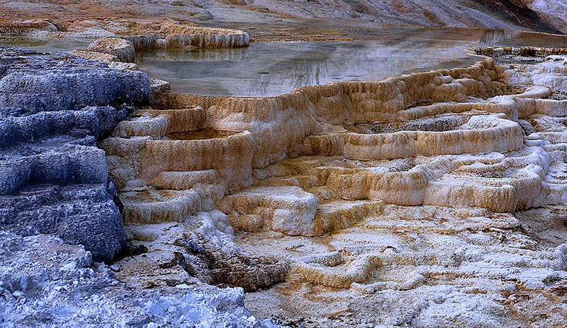 Where else would you find these travertine terraces?