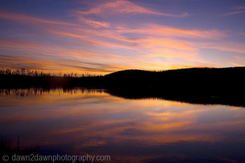 GREBE LAKE SUNSET