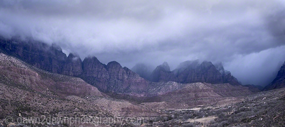 Stormy Zion Canyon