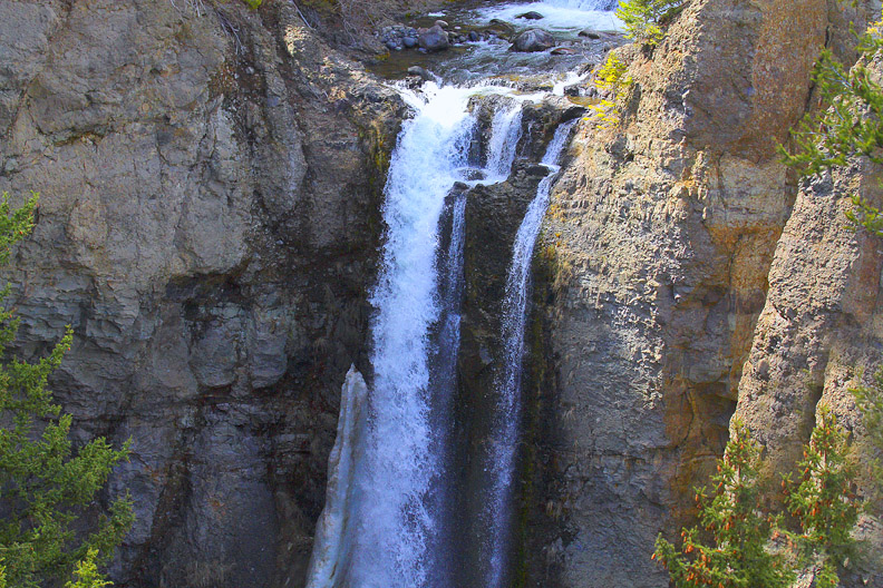 Tower Falls is one of many falls in the park