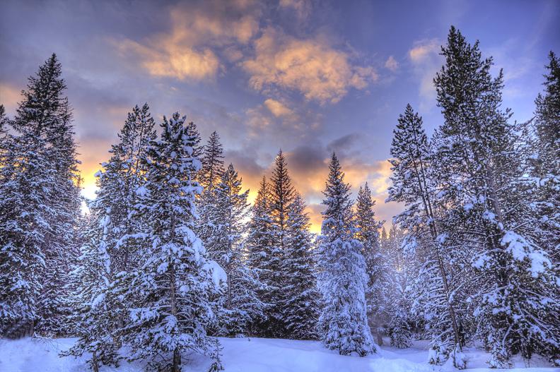 Classic winter sunset.