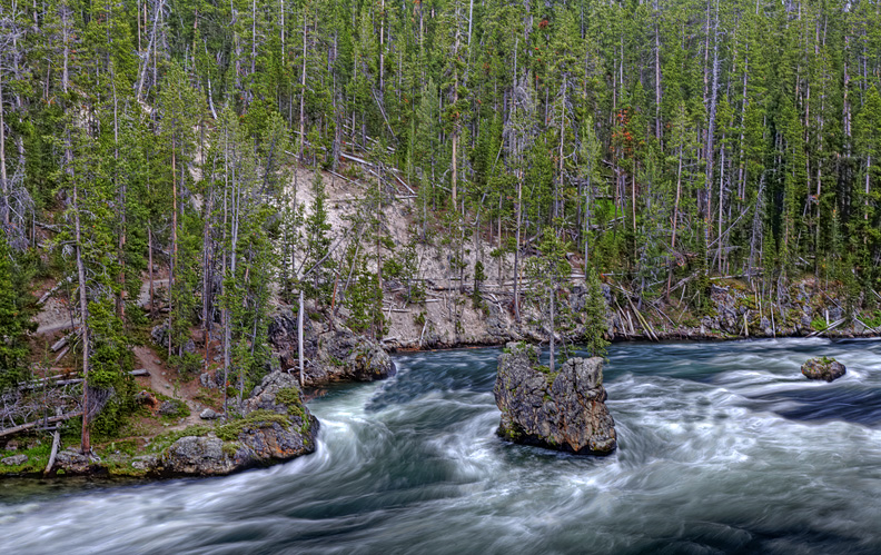 The Yellowstone flows north out of the park.