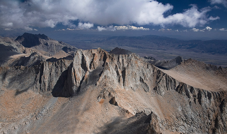 LOOKING NORTH FROM TOP OF MT WHITNEY