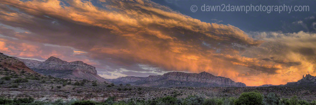 Zion Sunset Pano1