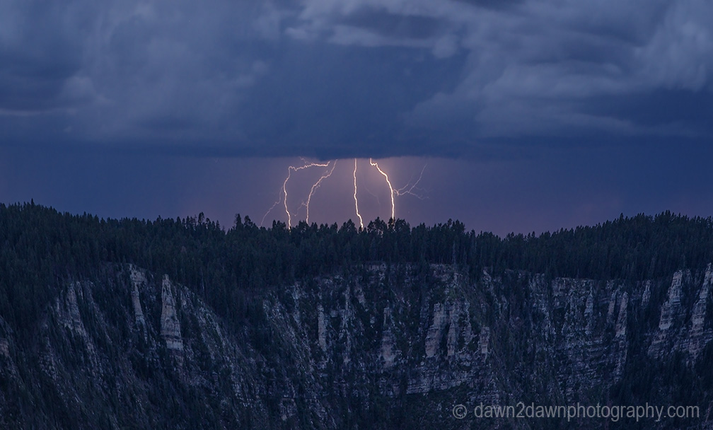North Rim Lightning