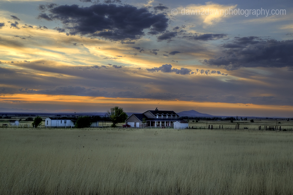 Utah Farm Sunset
