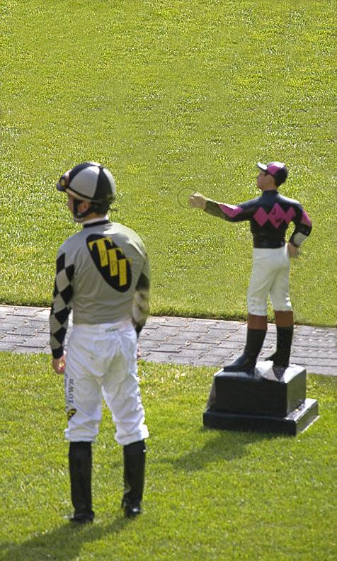Horse and Lawn Jockey