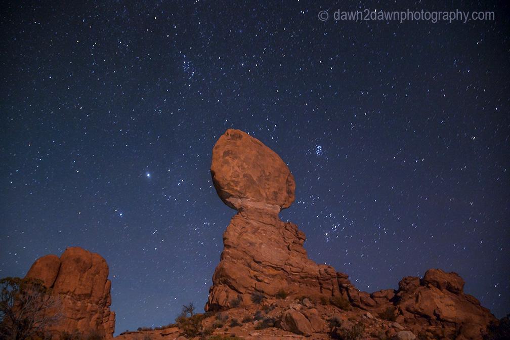 Arches Balanced Rock Night
