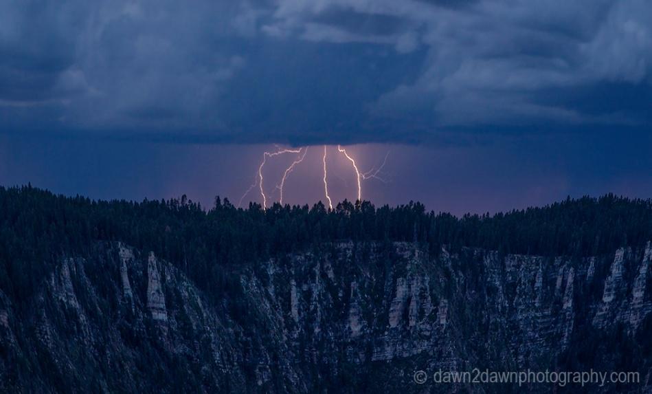 North Rim Lightning