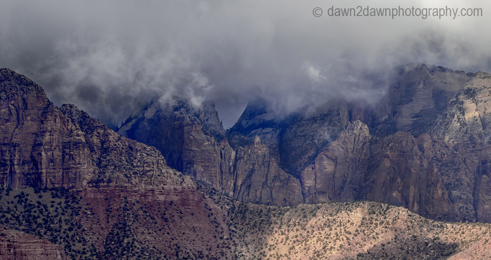 Zion Canyon Storm Clouds