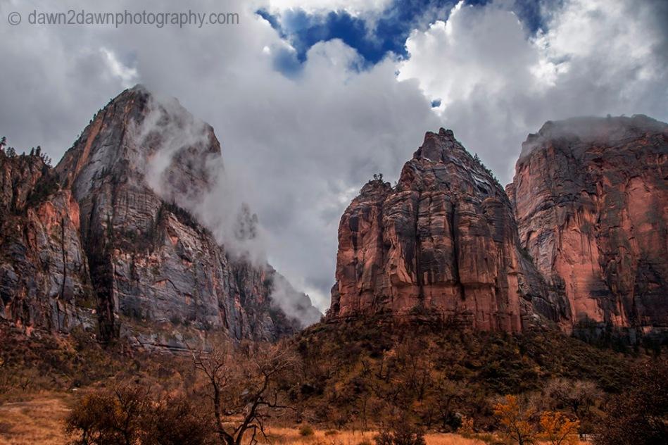 Zion Canyon Fog_9075