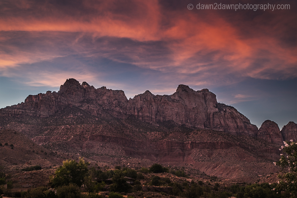 Zion Canyon Sunset