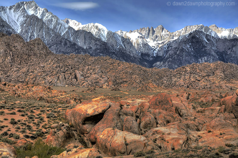 MT WHITNEY FROM ALABAMA HILLS
