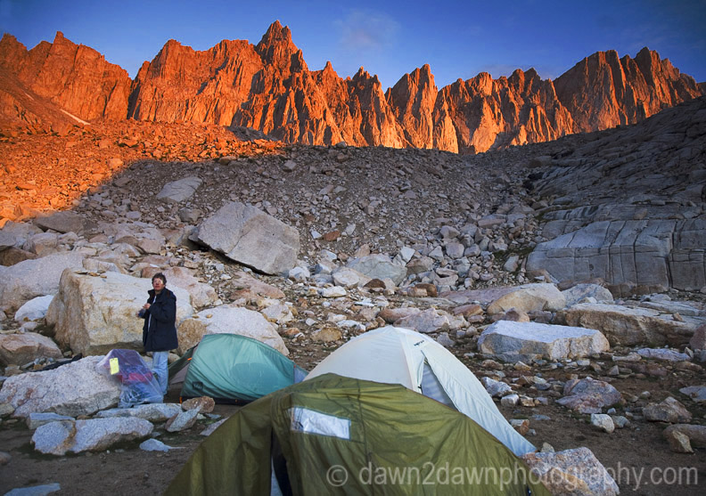 Sunrise at Mt.Whitney Trail Camp