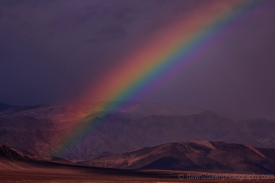 Death Valley Rainbow