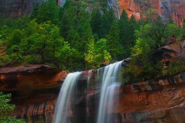 Emerald Pools Falls