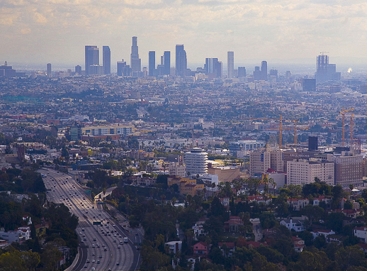 LOS ANGELES FROM HOLLYWOOD