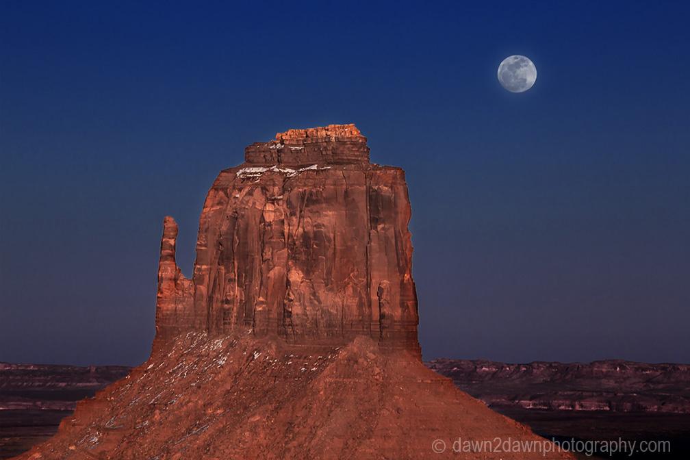 Monument Valley Full Moon