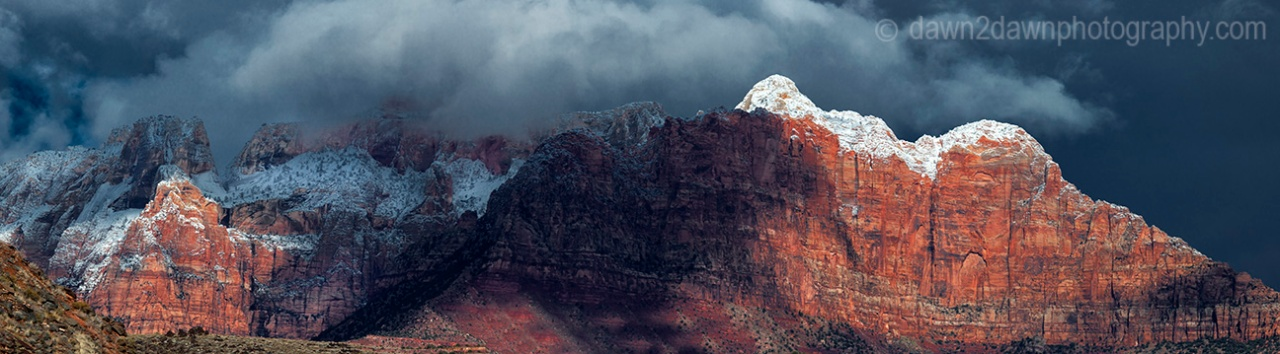 Zion Winter Panorama