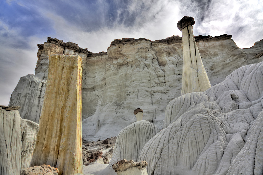 The unusual rock formation called the Waweap Hoodos make up the landscape at The Grand Staircase Escalante in Southern Utah