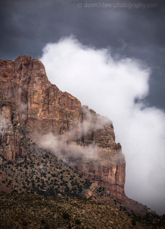 Rainstorms pass through Zion National Park, Utah