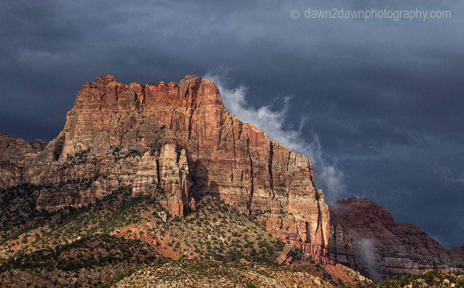 Rainstorms pass through Zion National Park, Utah