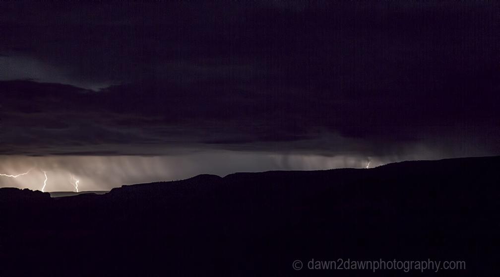 Lightning strikes at The Grand Canyon in Northern Arizona