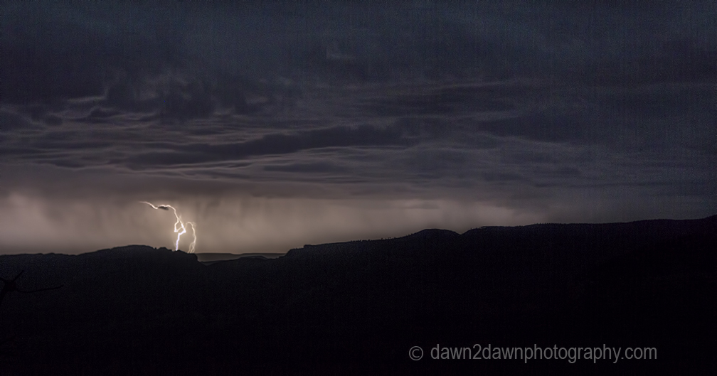 Lightning strikes at The Grand Canyon in Northern Arizona