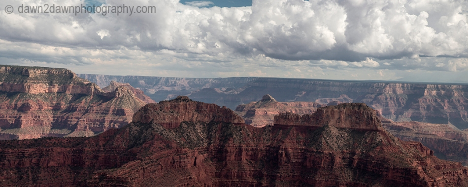 A panoramic view of the Grand Canyon from Point Sublime