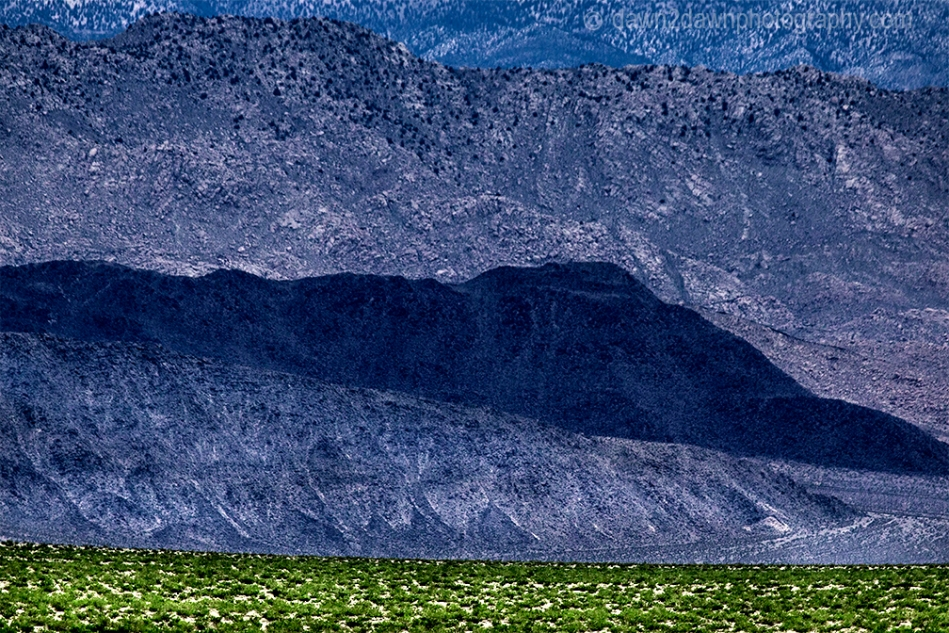 Rock formations in the Eureka Valley at Death Valley National Park, California