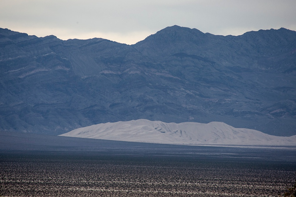 Eureka Dunes from 10 miles away in a remote section of Death Valley National Park