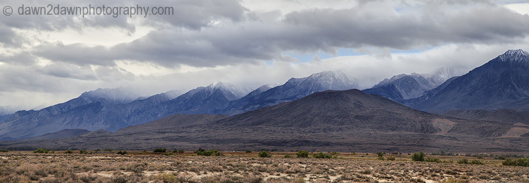 The Sierra Nevada Mountains from Owens Valley, California