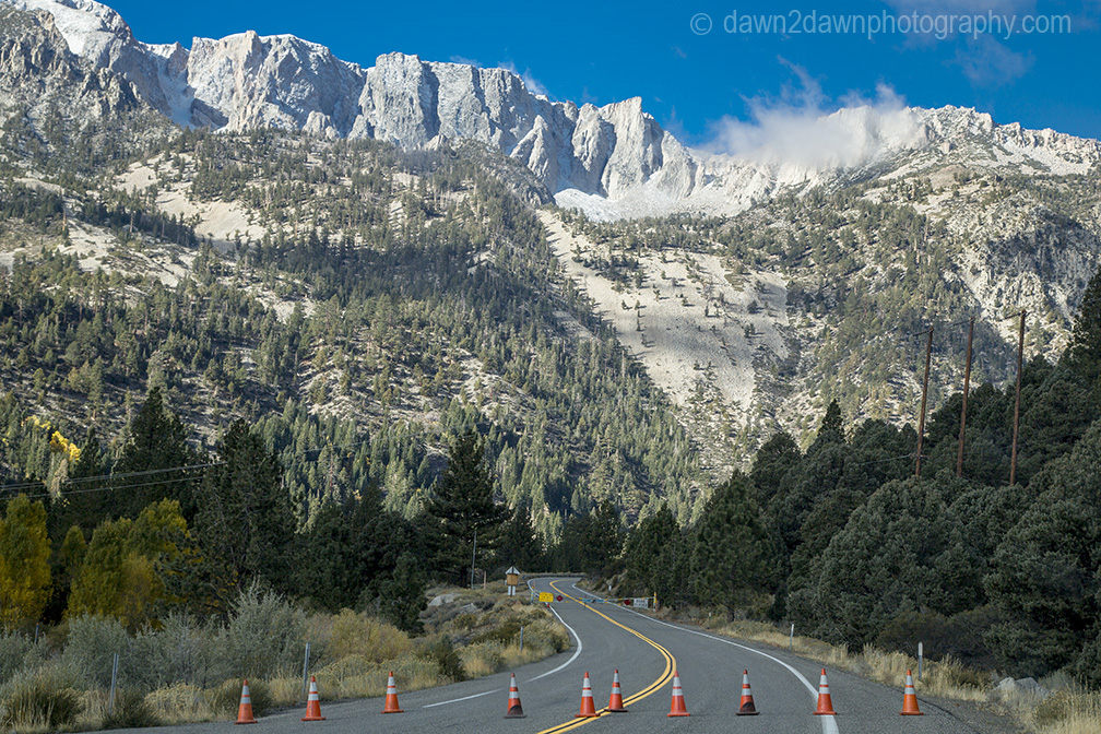 Snow and ice closed the Tioga Pass Road, California