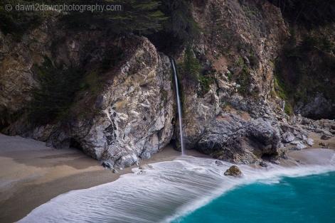 McWay Falls at Julia Pfeiffer Burns State Beach along the California Coastline near Big Sur