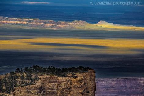 Passing clouds produce shadows at Marble Canyon at Grand Canyon National Park, Arizona