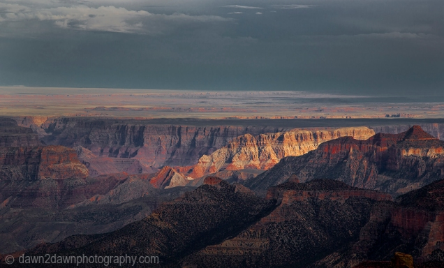 The sun sets on the Grand Canyon at Point Imperial