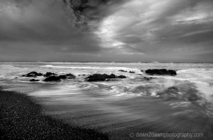 High surf along California's Pacific Ocean Coastline near Cambria