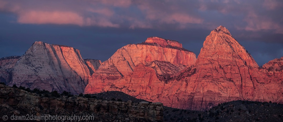 Zion Canyon Sunset Pano_9867