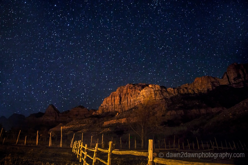The stars are out in large numbers at Zion National Park, Utah