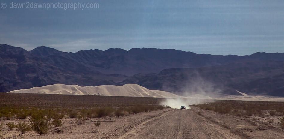 The road to Eureka Dunes.
