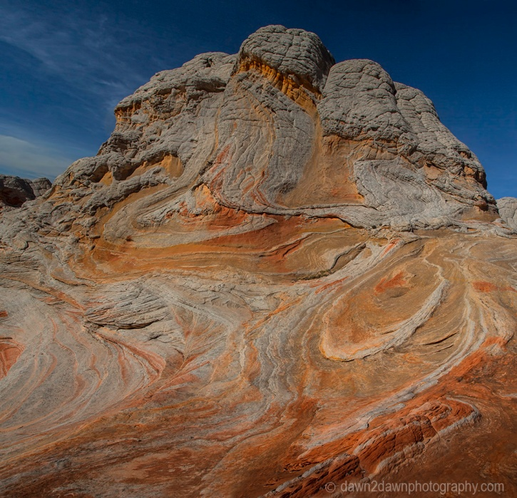 Distorted sandstone shapes make up the landscape at White Pocket at Vermilion Cliffs National Monument, Arizona