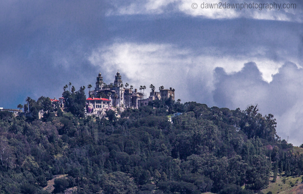 The Hearst Castle along California's Pacific Coastline near San Simeon
