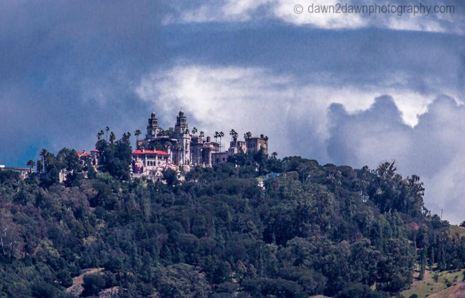 The Hearst Castle along California's Pacific Coastline near San Simeon