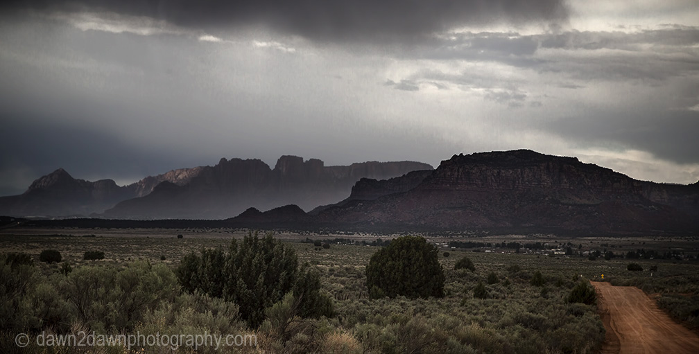 Storm clouds threaten the Northern Arizona landcape near Colorado City