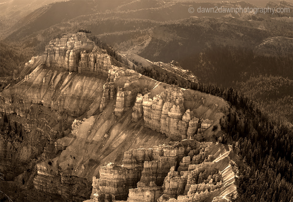 Erosion and time have shaped the sandstone landscape at Cedar Breaks National Monument in Southern Utah, USA