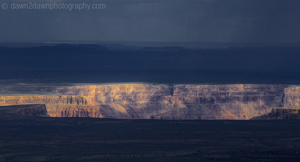 Storm clouds pass over Marble Canyon at Grand Canyon National Park, Cslifornia.