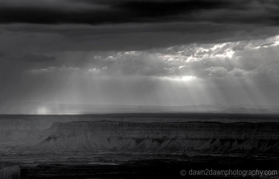 North Rim Storm BW_3064
