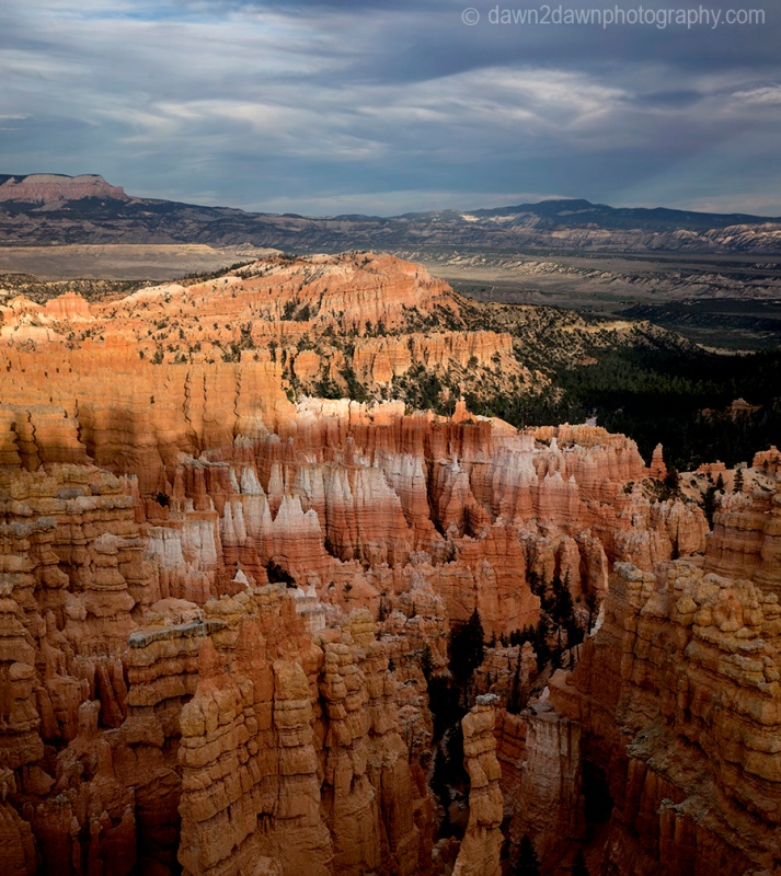 Bryce Canyon National Park at sunset.